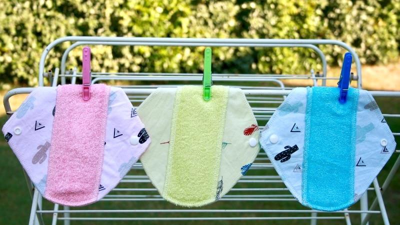 serviettes hygiéniques lavables, zero dechet, grenoble, Bulles à Malices